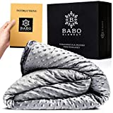 Cooling Weighted Blanket for Adults - 15 Pound Adult Weighted Blankets - 60'x80' Fits Queen Size 15lb, Full, & Twin - Cool Soft Touch, Yet Heavy 15 lbs - Premium Cotton with Natural Glass Beads