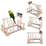 QBLEEV Bird's Stand Playground Climb Wooden Perches (Bird Stand(14.4' L 9' W9.7 H))