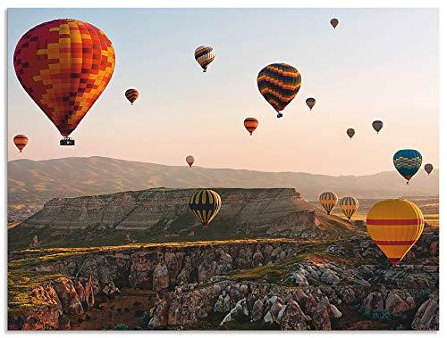 Artland Wandbild Alu für Innen & Outdoor Metall Bild 60x45 cm Fahrzeuge Ballonfahren Fotografie Bunt Kappadokien Ballonfahrt K3FE
