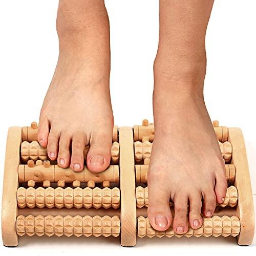 COMFYROOL Wooden Foot Massager Roller, Relax and Relieve Plantar Fasciitis, Heel, Arch Pain. Stress...