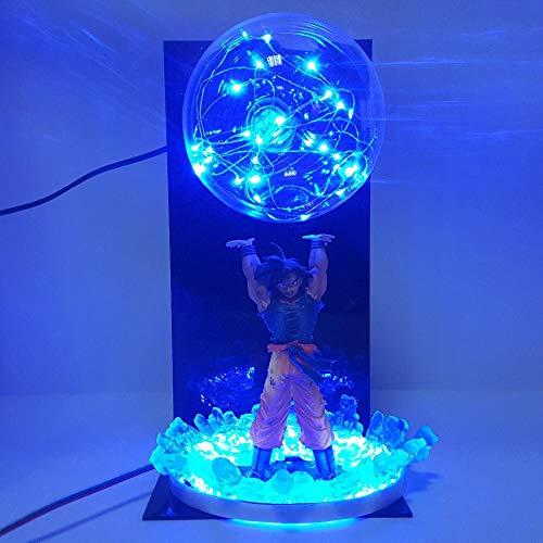 dsfew Puppe , Wunderspielzeug, Action-Mann, Wunderfiguren, ActionfigurAktionsfigur Goku Spirit Bomb Super Saiyajin führt Verfärbung Anime Super Goku Figur DBZ