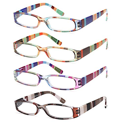 Gamma Ray Women's Reading Glasses - 3 pack Ladies Fashion Readers for Women - 2.25