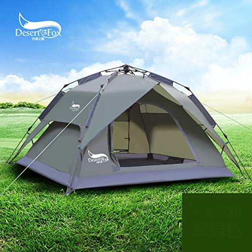 Mdsfe DesertFox Outdoor tents 3-4 people automatic tents double rainproof man camping tents multi-functional tents - ArmyGreen, A1