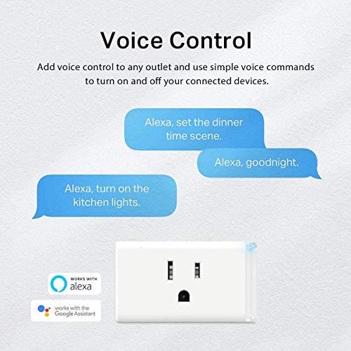 Kasa Smart Plug HS103P3, Smart Home Wi-Fi Outlet Works with Alexa, Echo, Google Home & IFTTT, No Hub Required, Remote Control,15 Amp,UL Certified, 3-Pack , White