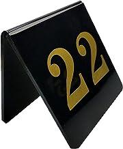 Tabel Nummers, Acrylic Driehoek Tafelkaart Dubbelzijdig V-vormige Tafelkaart Restaurant Cafe Bar Zitplaatsen Tafelnummer B...