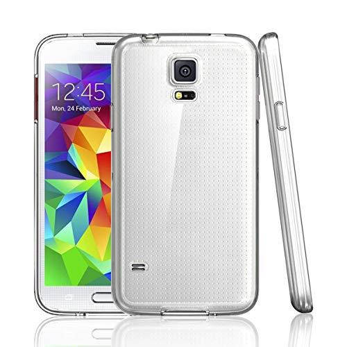 NEW'C Funda para Samsung Galaxy S5, Anti- Choques y Anti- Arañazos, Silicona...