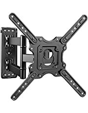 PERLESMITH Heavy Duty TV Wall Mount for Most 32-55 inch Flat and Curved TVs up to 88lbs with Swivel Tilt & Extension Arm, Full Motion TV Mount Fits LED, LCD, OLED 4K TVs, Max VESA 400x400mm, PSMFK12
