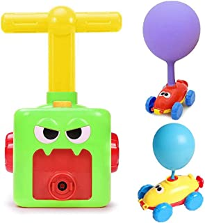 سيارة تعمل بالبالون، ألعاب تعليمية لسيارات البالونات التجربة العلمية للأطفال مزودة بـ 6 بالونات و2 سيارة صغيرة (أخضر)
