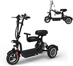 WLY Portable Electric 3-Wheel Scooter Foldable Electric Wheelchair 48V13A Lithium Battery / 400W / 60km Independent Suspension Hydraulic Shock Absorber Outdoor Scooter