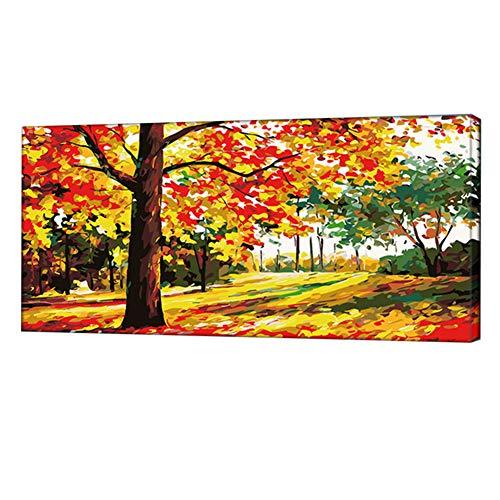 LYGACX Pittura a Olio Digitale, paesaggi Dipinti a Mano Personalizzati di Diverse Dimensioni, Adatti per camere da Letto, soggiorni, corridoi,B,L