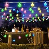 Samoleus Catena Luminosa Esterno, Stringa Luci LED 7M 50 LED, 8 Modi Ghirlanda Luminosa Lampadina Impermeabile con Telecomando e Timer, Luci Natalizie per Interno Festa Giardino Natale (Colore)
