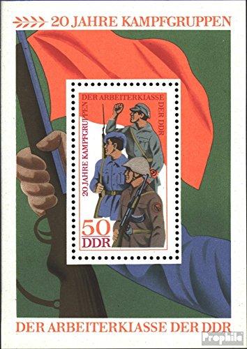 Prophila Collection DDR Block39 (kompl.Ausgabe) 1973 Kampfgruppen (Briefmarken für Sammler) Militär