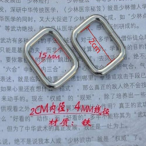 50pcs 20mm Silver Metal Rectangular Super special price Ring Type DIY Handmad Max 65% OFF Buckle