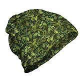 ABAKUHAUS Sabio Gorro Unisex, Árbol de Hoja perenne de la Navidad, Tela Suave 100% Microfibra Estampada Ideal para Actividades al Aire Libre, Verde Verde Oliva pálido Verde