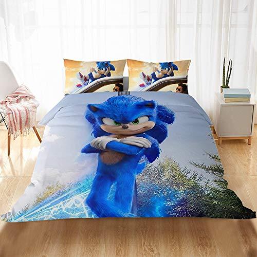 CQLXZ Sonic The Hedgehog - Funda de edredón 3D para niños (220 x 240 cm)