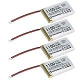 4個 リチウムイオンバッテリ 1100mAh Vivan-Star A r d ui n o Nodemcu ESP32開発ボード用保護ボード 絶縁ゴムテープ マイクロJST 1.25プラグ付き3.7V 1100mAhリチウム充電式バッテリー1S 3Cリポバッテリー