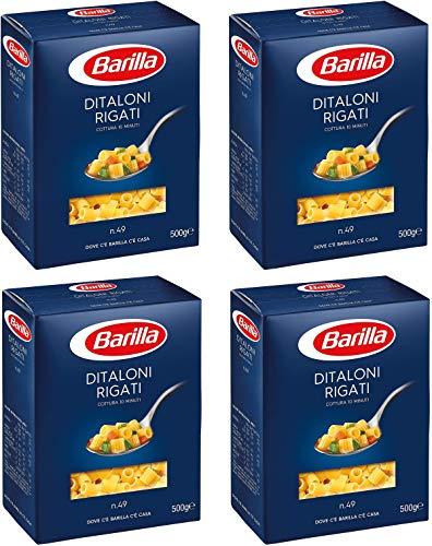 Barilla Ditaloni 2 Kg - Pasta di Semola con Ingredienti di Qualità dell'Eccellenza Italiana - Bontà Irresistibile Quotidiana - 4 x 500 g (Ditaloni)