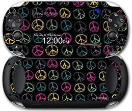 Sony PS Vita Skin Kearas Peace Signs Black by WraptorSkinz by WraptorSkinz