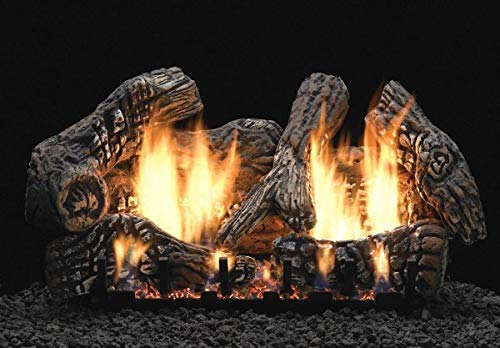 Buy Bargain Empire Comfort Systems 30 Super Charred Oak Logset with IP VF Slope Glaze Burner, LP