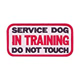 Cobra Tactical Solutions - Parche SERVICE DOG IN TRAINING DO NOT TOUCH K9 DOG Motivational Military Patch con Cierre de Velcro para Airsoft, Paintball, Ropa táctica y Mochila