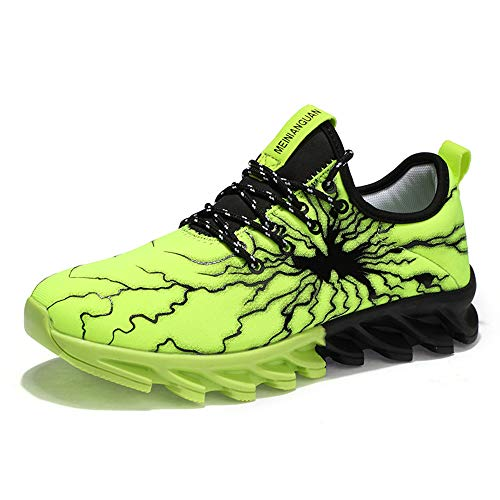 MUOU Men's Road Running Shoes Athletic Sport Lightweight Sneakers for Men and Women (6.5 M US, Green)