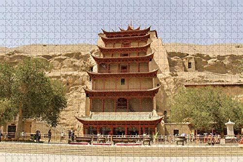 Rompecabezas para Adultos China Gansu Dunhuang Mogao Grottoes Puzzle 1000 Piezas Recuerdo de Viaje de Madera