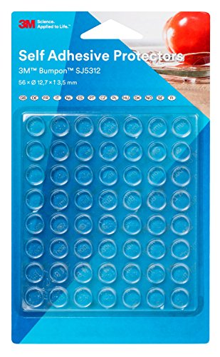 3M Bumpon SJ5312BL Elastikpuffer, Transparent (56-er Pack)