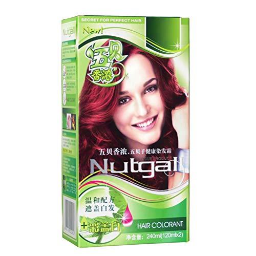 LifeBest 240ml Tinte para el Cabello Natural Semi Permanente Crema para teñir el Cabello Tinte para el Cabello Tinte Herbal Natural Essence para Mujeres/Hombres