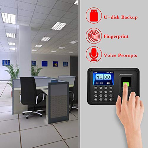 Best Review Of JSYCD Fingerprint Identification Attendance Punch Card Machine, Employee Checking-in ...