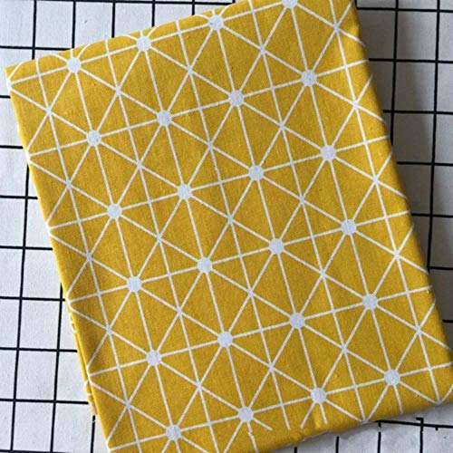 LLine Plaid-serie Geometrische patronen Gedrukt katoen Linnen Stof DIY Naaien Linnen Katoen Stof Canvas Materiaal Tafelkleed, B-stijl, 100x150cm