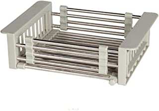 Coinar ステンレス シンク上水切りラック 水切り 水切りかご カゴ キッチン収納 ラック 収納 シンクラック 伸縮