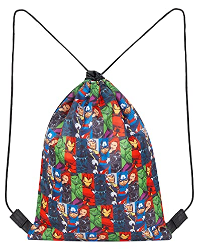 Marvel Avengers Drawstring Bag For Boys, School PE Bag, Kids Gym Sack For...