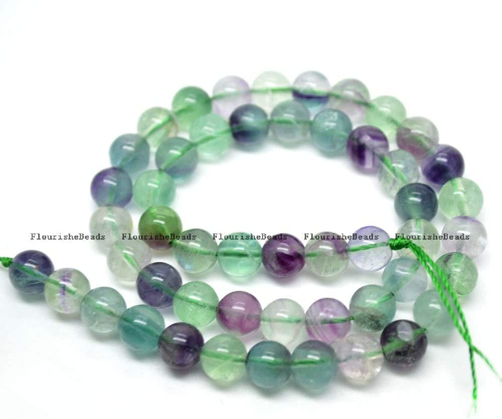 BDI137143 Challenge the lowest price Beadings Natural OFFicial Mix Color Fluorite Round Loose Stone