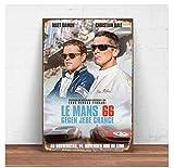 Matt Damon Christian Bale Le Mans 66 Filmdruck Wandkunst