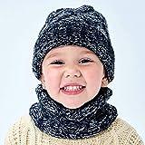 BAONUANM Conjunto De Sombrero para Niños,Invierno Bebé Balck Sombrero Bufanda Set Grueso Cálido Niños Sombrero De Punto Gorro Niños Gorro para Niño Niña Cálido Cómodo Sombrero Conjunto