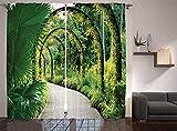 Waple Cortinas opacas ojete para sala de estar Hay muchas orquídeas en el...