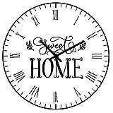 SWEET HOME Reloj de pared moderno, Reloj de pared, Reloj de pared, Mecanismo de reloj de pared silencioso, Reloj de pared, Reloj de pared moderno