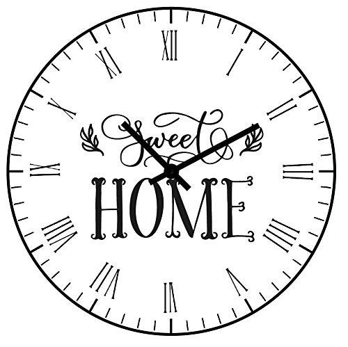 SWEET HOME Orologio da parete moderno, Orologio da muro, Orologio da parete, Meccanismo orologio da parete silenzioso,...