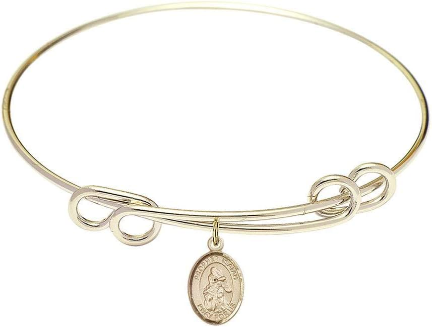 8 1 2 inch Ranking integrated 1st place Round Double Loop Isaiah a Bracelet Bangle favorite C St. with