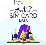 travSIM SIM Karte für Australien & Neuseeland (Three UK SIM Karte) Gültig für 30 Tage - 12GB Mobile Daten – Australien Neuseeland UK Three SIM Karte – Kostenloses Roaming in 71+ Reisezielen -