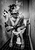 PICSonPAPER Poster Toiletparty, ungerahmt DIN A4,