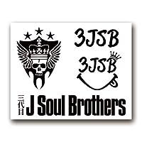 絵柄だけ残る ステッカー S 「3JSB」 黒 001B