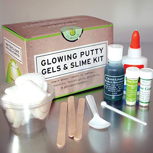 Glowing Putty Gels and Slime Chemistry Kit