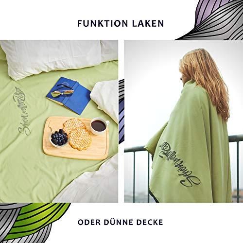 NEU: Slumber® Hüttenschlafsack   Pastellgrün   3 Funktionen Reiseschlafsack   Schlafsack Inlett Mikrofaser Weich & Hochwertig   Reißverschluss & Bettbezugfunktion   Individuelles Design
