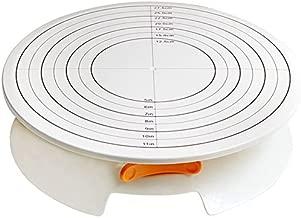 A.B Crew Turntable 12 Inch Cream Decorating Cake 360 Degree Lockable Round Display Revolving Rotating Swivel Plate Stand Platform DIY Cakes Tools