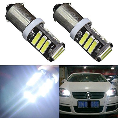 TABEN BA9 BA9S 7014 11-EX Chipsets LED Ampoules, Super Brillant 450LM 6000K 12V 53 57 1895 64111 Ampoules LED utilisées pour Les lumières de courtoisie de Porte latérale (2pcs, Blanc xénon)