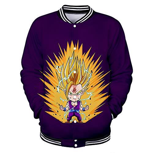 Hengye Technology Bomberjacken für Herren und Damen, einschließlich Dragon Ball-Baseballuniformen, Slim-Sweatshirts mit Rundhalsausschnitt...