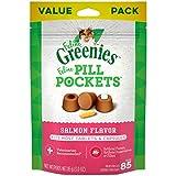 Feline GREENIES Pill Pockets Cat Treats Salmon Flavor, 3 Ounce Value Size Bag
