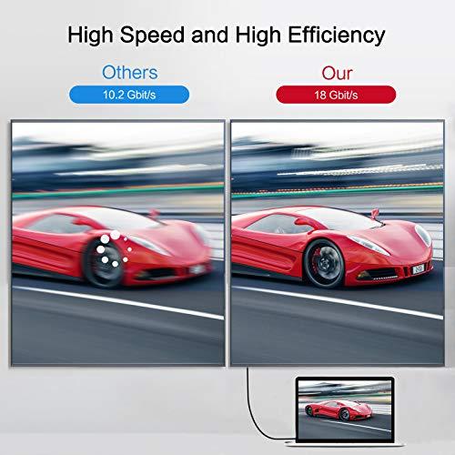 4K HDMI-Kabel 2Meter, Techrum 4K@60Hz Highspeed HDMI-2.0-Kabel 18Gbps kompatibel mit Ultra HD, 3D, Full HD, 1080p, HDR, ARC, PS4, Xbox, HDTV - Schwarz