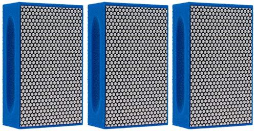 KGS PRO-PAD Diamond Hand Polishing pads (3 Pack, Grit 1500 (blue))